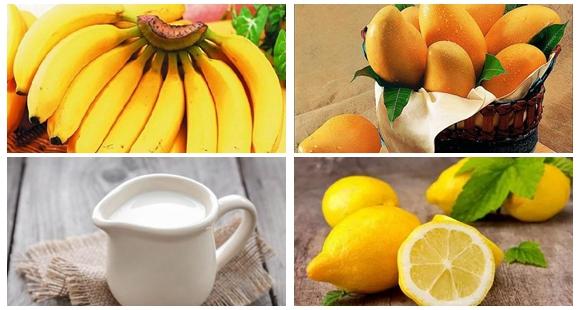 水果代餐 芒果柠檬香蕉牛奶